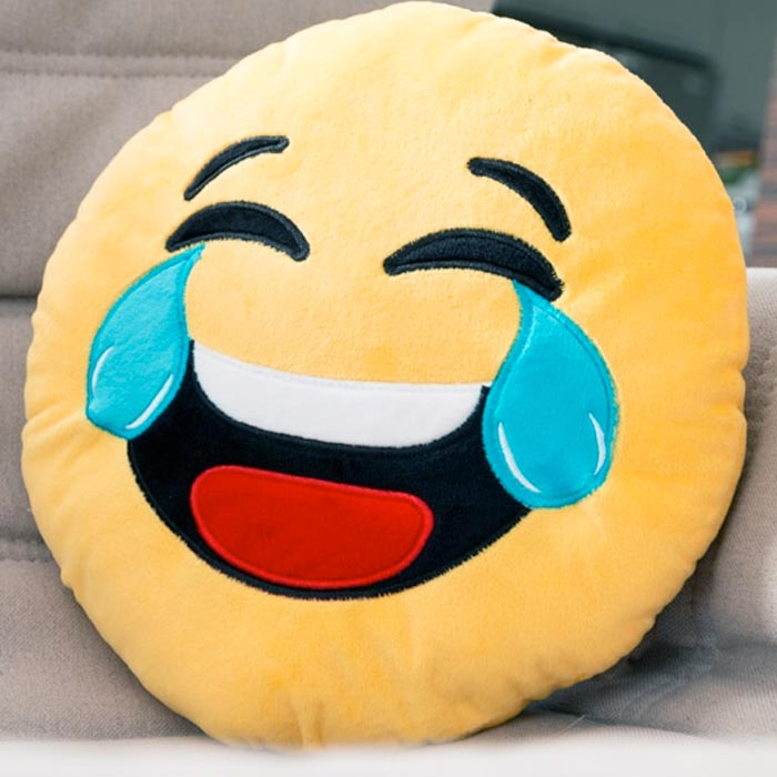 Cuscini Emoticon.Cuscino Emoticon Risata Con Lacrime Morbido Peluche 50x50cm