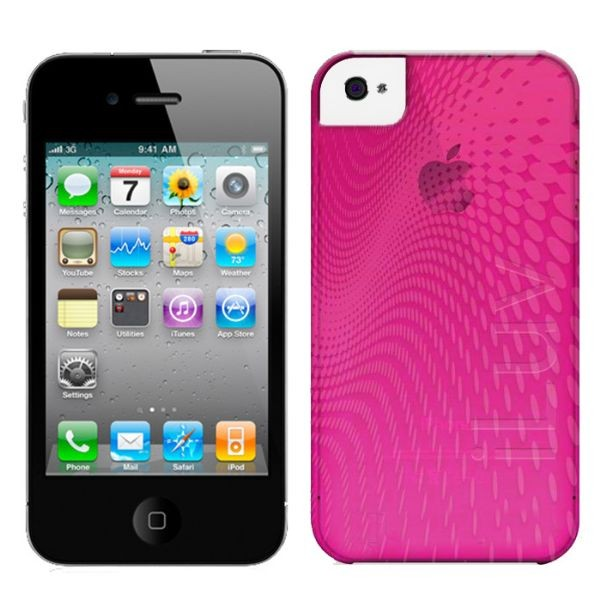 Custodia In Plastica Morbida per iPhone 4 Colore Rosa iLuv ICC726PNK Wave.