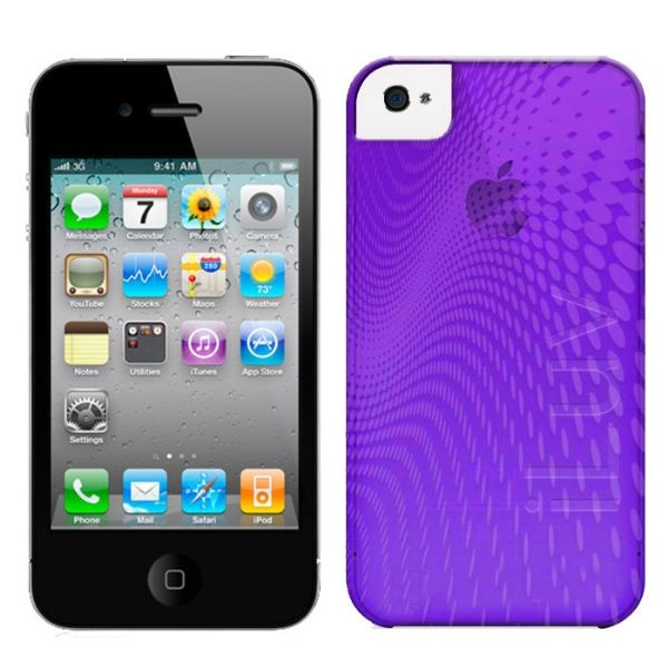 Custodia In Plastica Morbida per iPhone 4 Colore Viola iLuv ICC726PUR Wave.