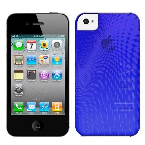 Custodia In Plastica Morbida per iPhone 4 Colore Blu iLuv ICC726BLU Wave.