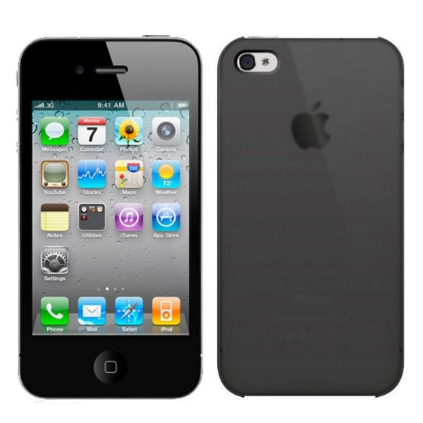 Custodia per iPhone 4/4S Colore Nero iLuv ICC743BLK Overlay Translucent Black.