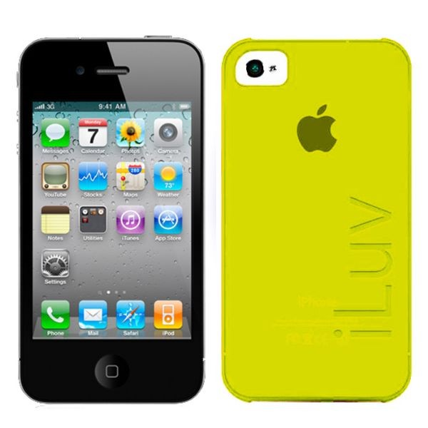 Custodia Ultra Fine in Plastica per iPhone 4/4S Gialla iLuv ICC733YEL Silk.