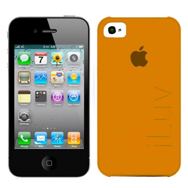 Custodia Ultra Fine in Plastica per iPhone 4/4S Arancione iLuv ICC733ORG SILK.