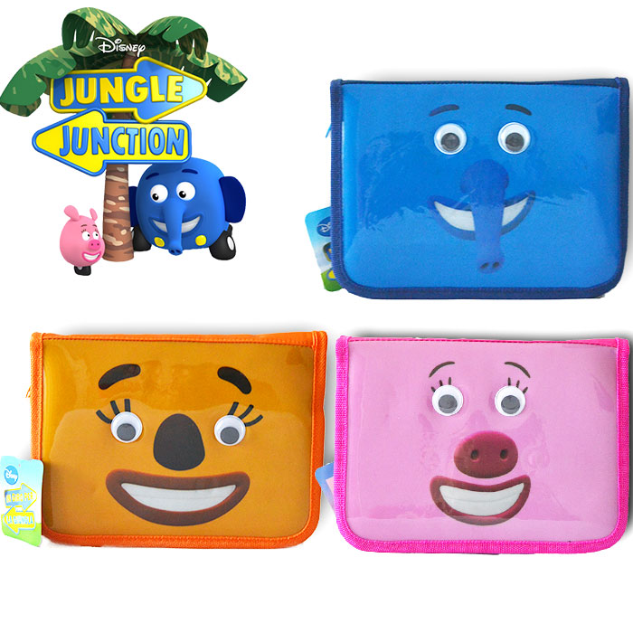 Disney Astuccio In Giro Per la Giungla Jungle Junction con Accessori Scuola.