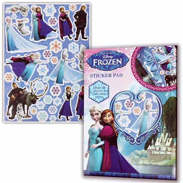 Disney frozen 30 stickers adesivi 7 scene colorate action figure bambini.
