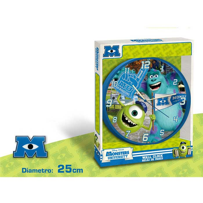 Disney monster university orologio da parete 25 cm.