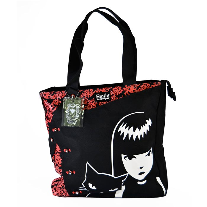 00b9f2901b EMILY THE STRANGE BORSA SHOPPER CITY Bakaji Prezzi in offerta stock