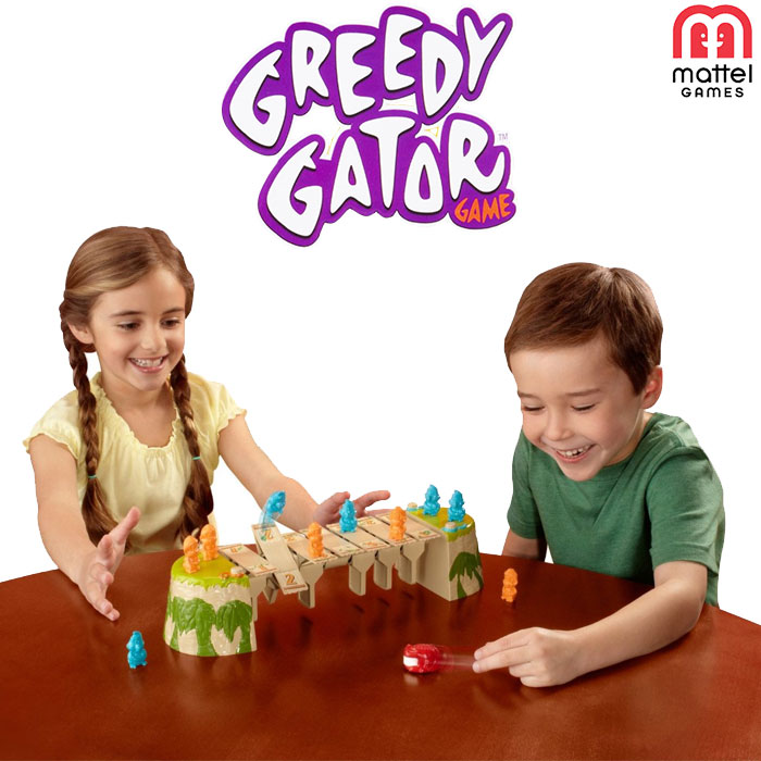 Greedy gator game jungles gioco strategia per bambini mattel games x8733.