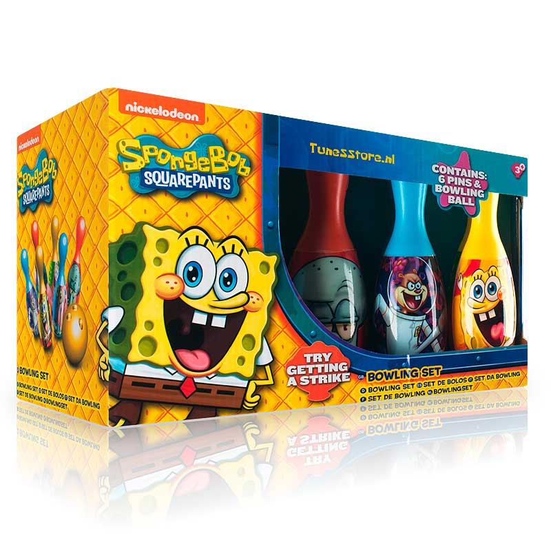 Kit Set Da Bowling SpongeBob Sport Gioco Birilli Indoor Outdoor.