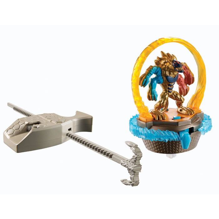 Max steel turbo battle elementor con rampa di lancio personaggio e accessorio.