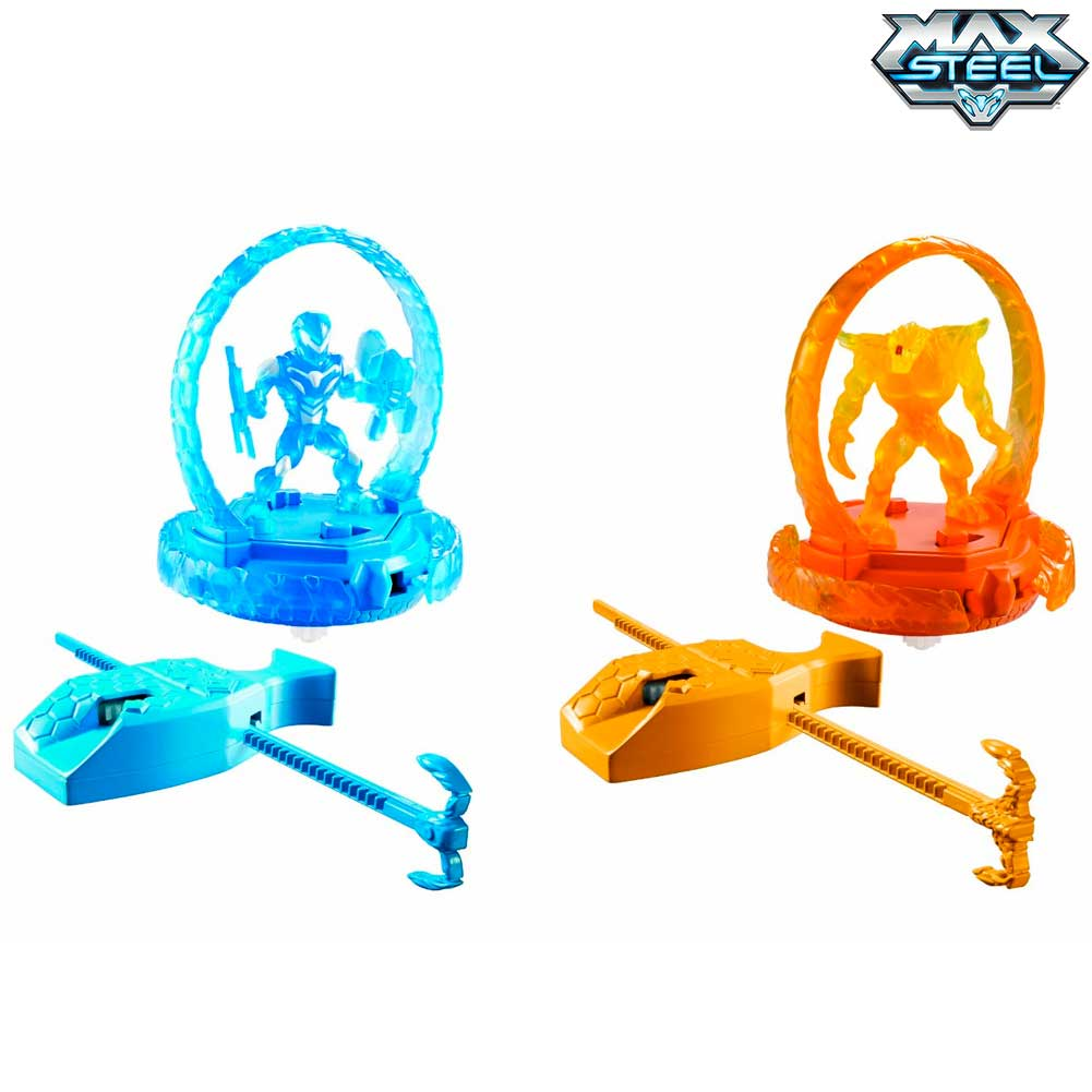 Max Steel Turbo Battlers Max Dredd Effetto Luminoso Elementor VS Max Steel Sfide