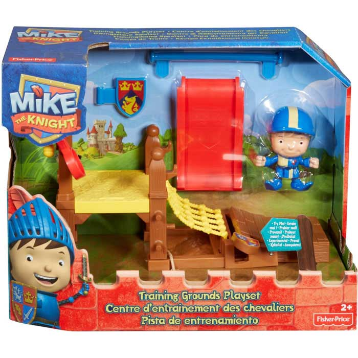 Mike il Cavaliere Campo di Allenamento con Accessori Fisher Price.