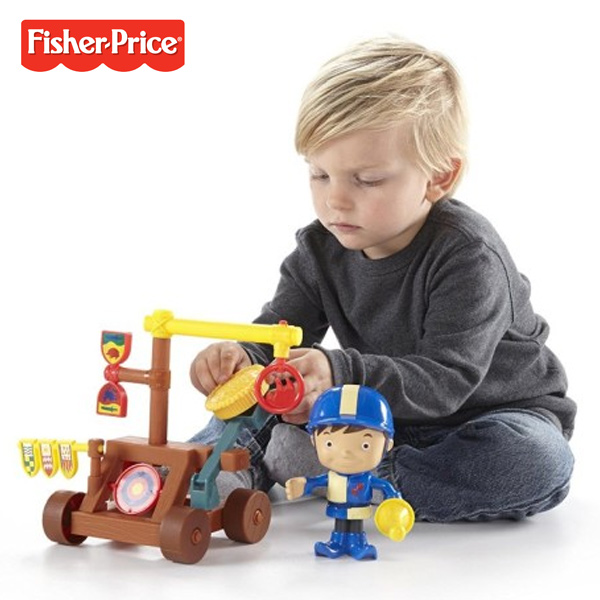 Mike Il Cavaliere Centro di Addestramento Personaggio e Accessori Fisher-Price.