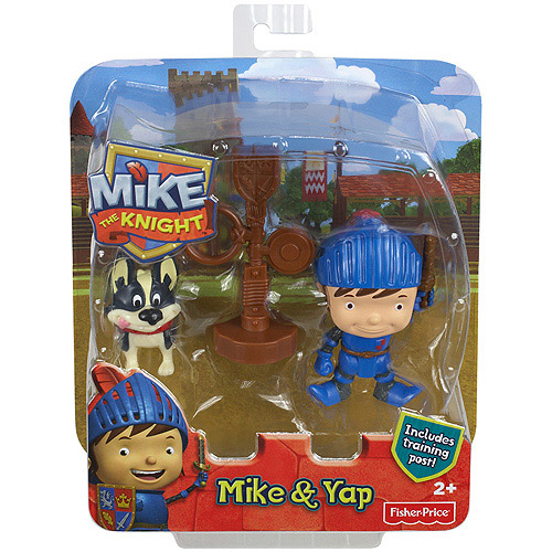 Mike The Knight Yap Training post Il Cavaliere Personaggio Gioco Fisher Price.