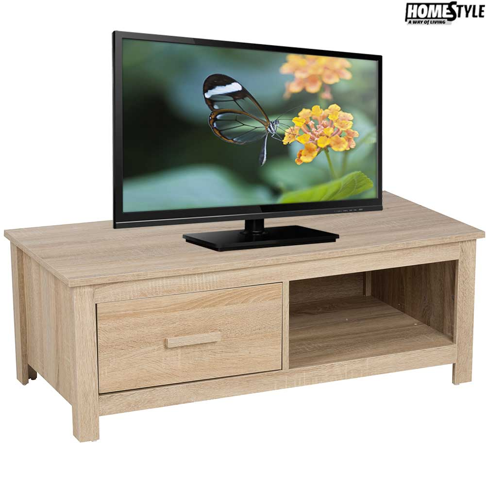 mobile tv 100 x 48 x 37 cm mdf cassetto ripiano soggiorno homestyle arredo ebay. Black Bedroom Furniture Sets. Home Design Ideas