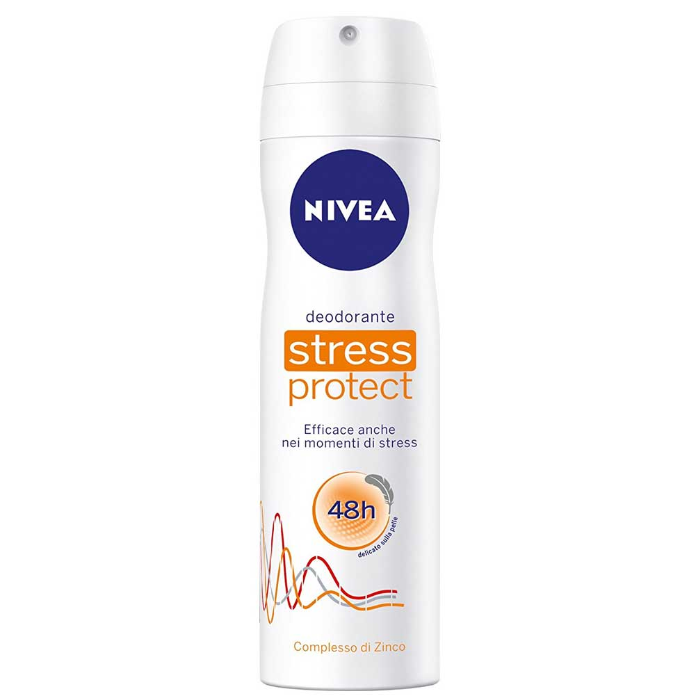 Nivea deodorante spray 150 ml unisex stress protect complesso di zinco.