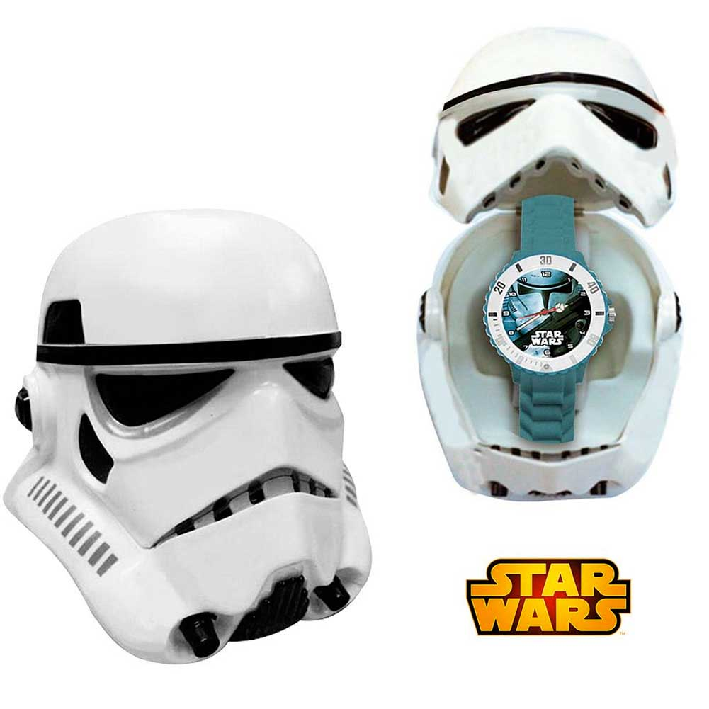 Orologio analogico stormtrooper star wars con custodia casco kids euroswan.