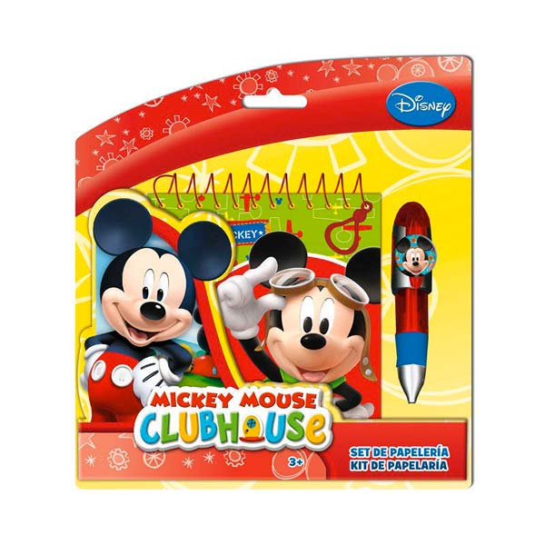 Penna con Notebook Disney Mickey Mouse.