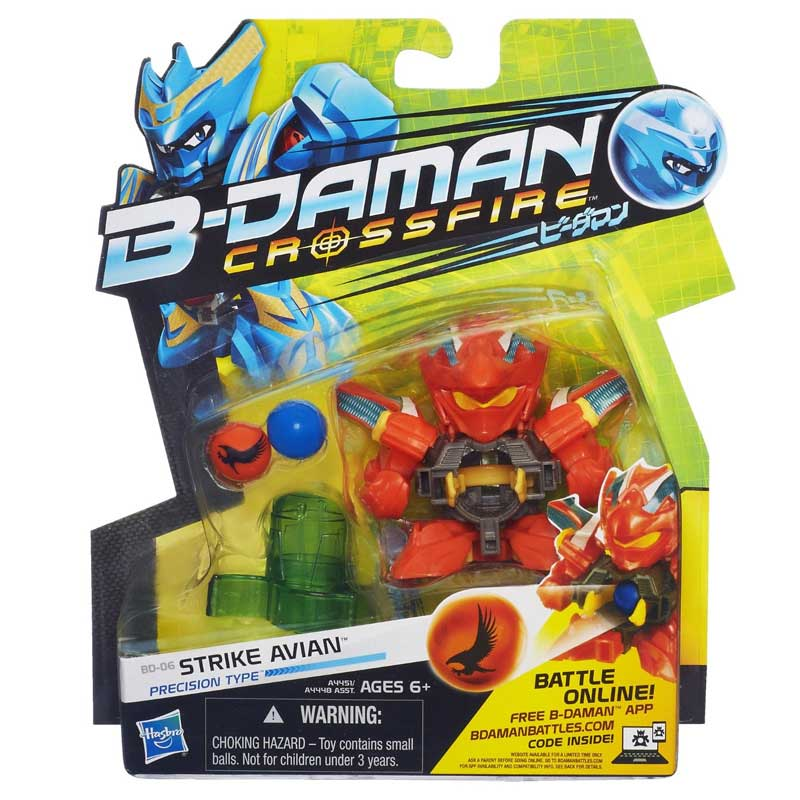 Personaggio b-daman action figure base strike avian a4451 a4448 hasbro.