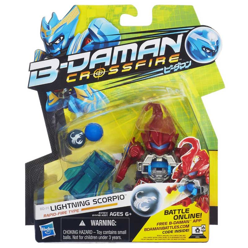 Personaggio b-daman action figure base lighthing skorpio a4454 a4448 hasbro.