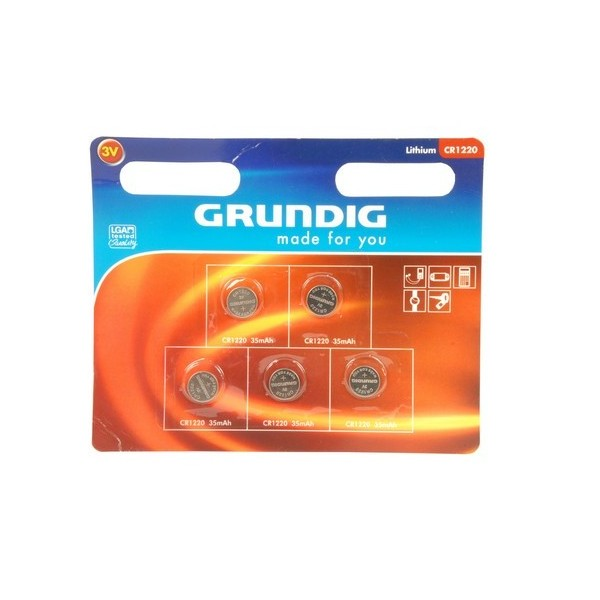 Pile a bottone Set 5 pezzi Batterie a litio CR1220 Grundig.