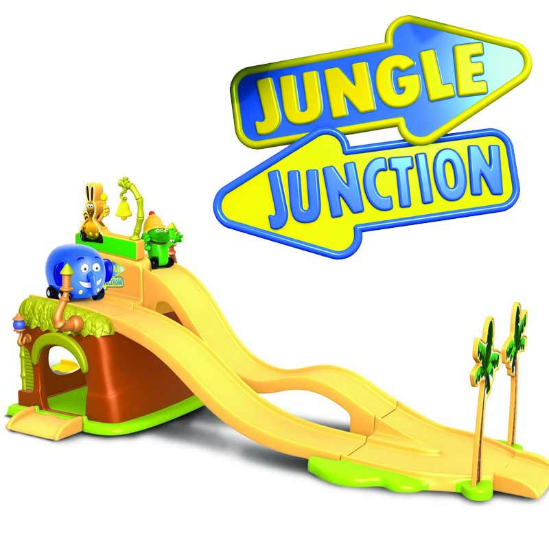 Pista da corsa jungle race junaction lanciatore disney con 2 personaggi inclusi.
