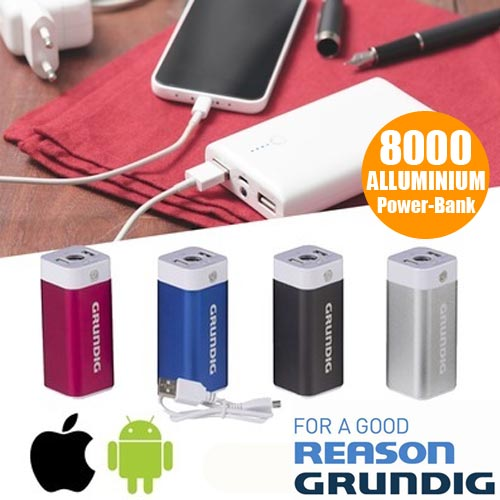 Power bank caricabatteria grundig 8000 mah smartphone apple android batteria.