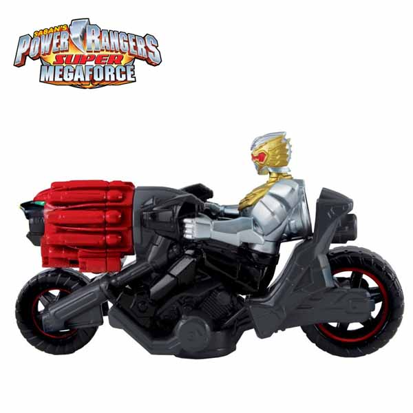Power Rangers 35275 Personaggio Robo Knight con motocicletta Megaforce.