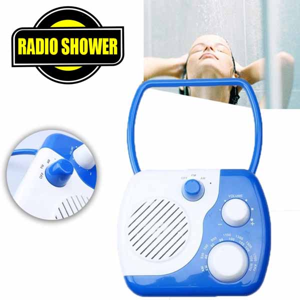 Radio Da Doccia Shower Impermeabile Am Fm Colori Assortiti Radiolina con Gancio.