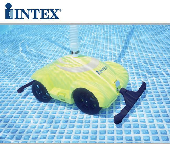 Robot robottino automatico intex per la pulizia della for Robot piscine intex
