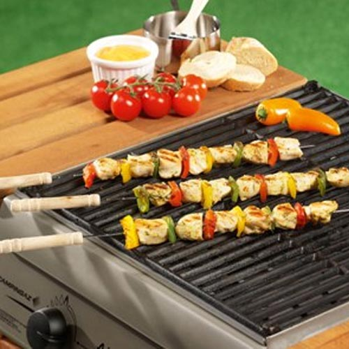 Set 4 Spiedini per Barbecue con Manico in Legno 38 cm BBQ Collection.