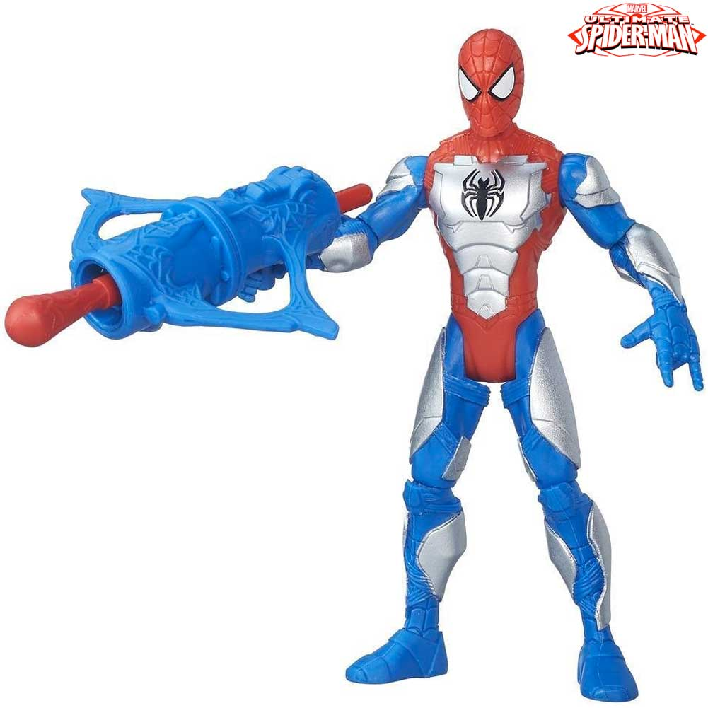 Spiderman Action Figure Con Corazza Altezza 14 cm The Sinister Six Hasbro.