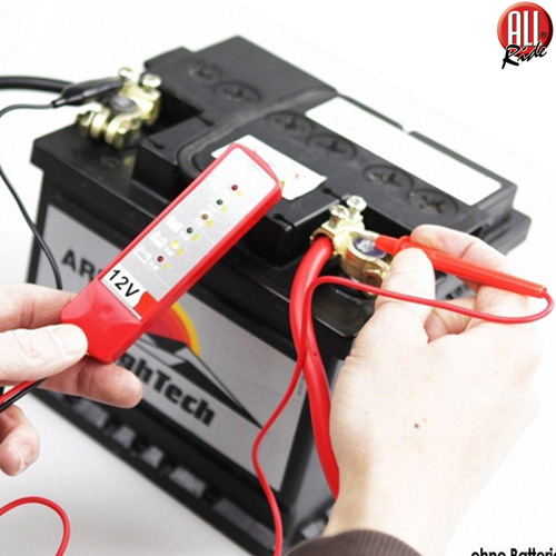 Tester Digitale 12V 6 LED Verifica Controllo Batteria Alternatore Auto Moto Test.
