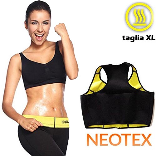 Top Canotta Fitness Hot Shapers Elastica Snellante Dimagrante Sauna Tg XL
