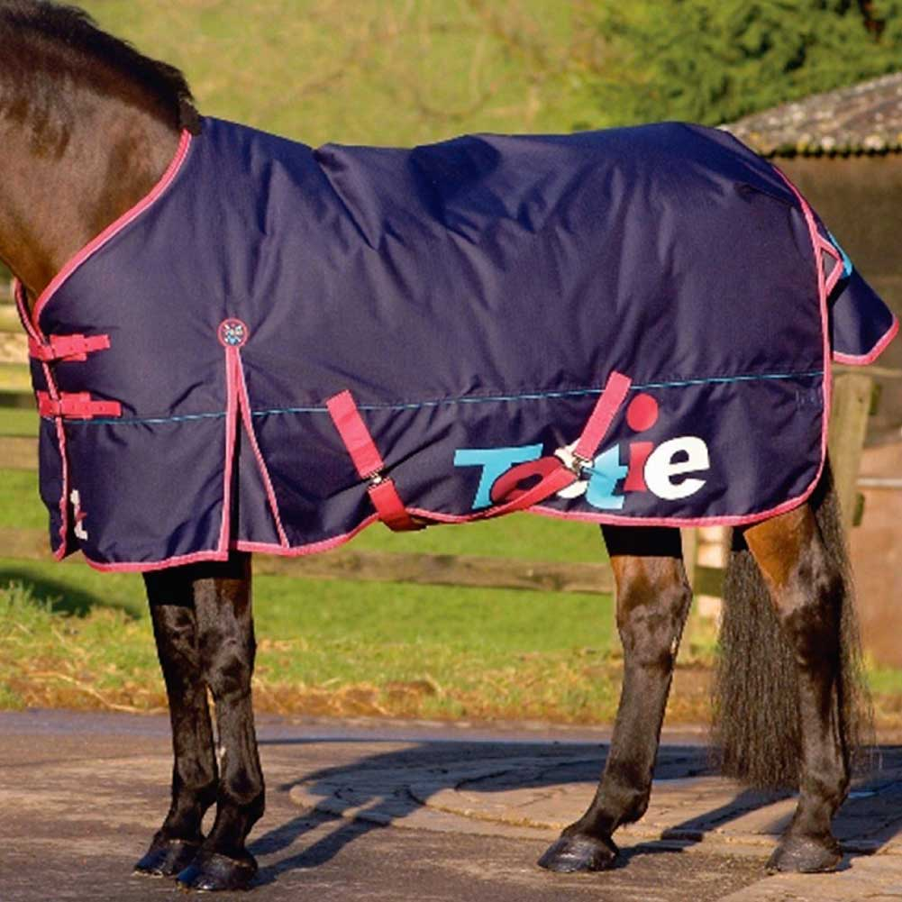 Tottie 75446 Vegas 300 Fixed-Neck Navy 7'3 FT Coperta Per Cavallo Impermeabile.