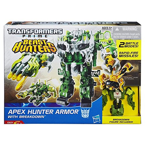 Transformers Prime Apex Hunter Armour con Breakdown serie Beast Hunters.