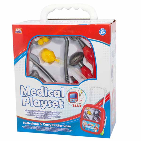 Trolley set dottore con 7 accessori inclusi medical playset grandi giochi.