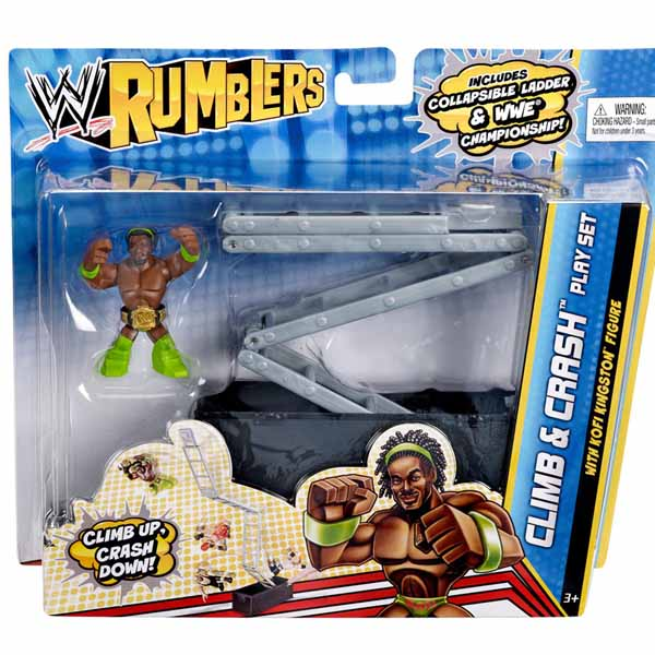 WWE Rumblers Climb and Crash Playset con Kofi Kingston Rampa di Lancio.