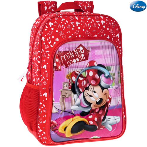 Zaino americano scuola elementare media zainetto 30x40x16 disney minnie mouse.