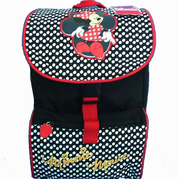 Zaino Asilo in Tessuto con Schienale Confort Back Disney Minnie Mouse.