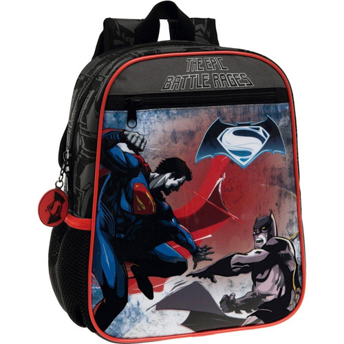 Zaino scuola asilo zainetto 23 x 28 x 10 cm nero borsa pvc batman vs superman.