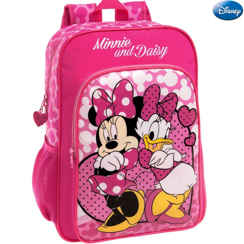 Zaino Scuola Elementare Media Zainetto Pvc 30 x 40 x 16 Minnie and Daisy Disney.