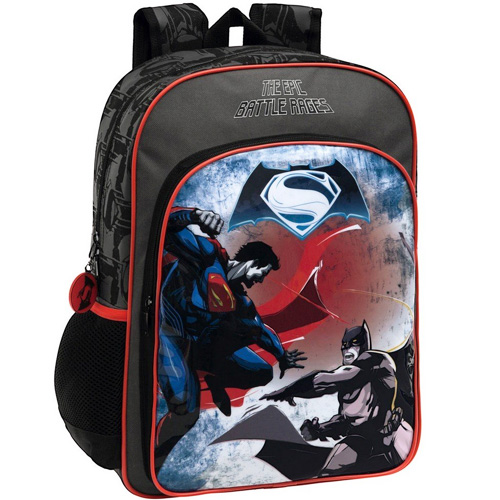 Zaino Scuola Elementare Media Zainetto Pvc 30 x 40 x 16 Batman vs Superman.