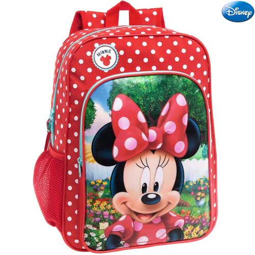 Zaino scuola elementare media zainetto 30x40x16 borsa adattabile minnie disney.