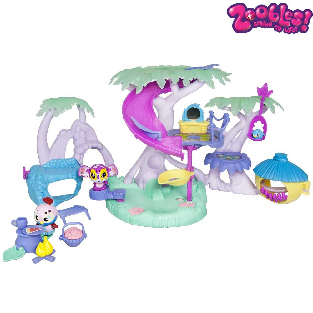 Zoobles threehouse play set con personaggi e accessori giochi spin master.